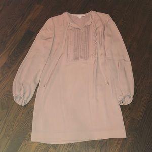 Diane von Furstenberg blush pink sheath dress sz 4